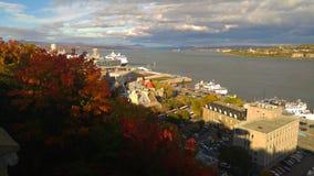 Uma vista de Cidade de Quebec Imagem de Stock