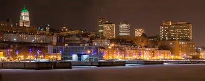 Panorama de Cidade de Quebec Harbourfront Fotografia de Stock