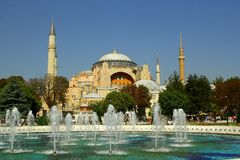 Uma vista de Hagia Sophia, Istambul Imagem de Stock Royalty Free
