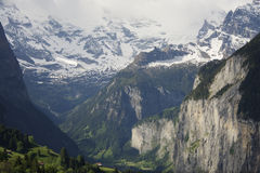 Uma vista de Lauterbrunnen, Suíça Imagem de Stock Royalty Free