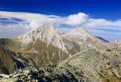 Uma vista de Mt. Vihren, o pico em Europa Oriental foto de stock