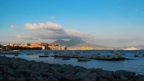 Uma vista de Napoli Fotografia de Stock Royalty Free