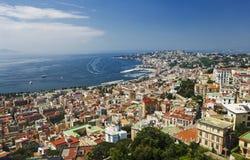 Uma vista de Napoli, Italy Imagens de Stock Royalty Free