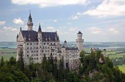 Uma vista de Neuschwanstein Imagens de Stock