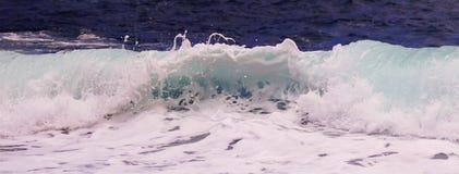 Uma vista de ondas loucas, parque estadual de Waianapanapa, Maui, Havaí Foto de Stock