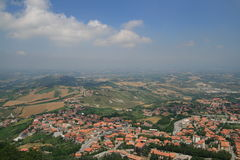 Uma vista de San Marino Imagens de Stock