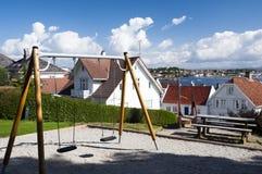 Uma vista de Stavanger, Noruega Imagens de Stock