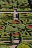 Uma vista de um jardim formal francês Fotos de Stock Royalty Free