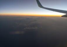Uma vista do avião fotografia de stock royalty free