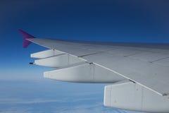 Uma vista do céu do avião Foto de Stock