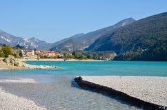 Lago Barcis, Italia Foto de Stock Royalty Free