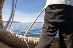 Uma vista do lago Titicaca imagem de stock