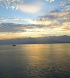 Uma vista do mar Mediterrâneo Fotografia de Stock