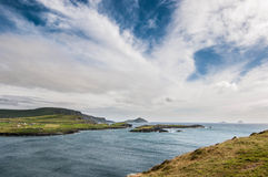 Uma vista do oceano em ireland Fotografia de Stock Royalty Free