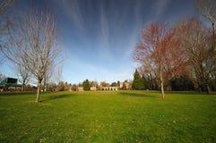 Uma vista do parque da catedral Imagens de Stock