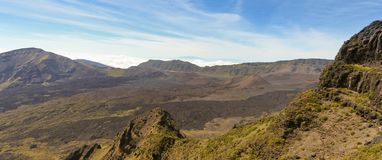 Uma vista do parque nacional de Haleakala, Maui, Havaí Foto de Stock Royalty Free