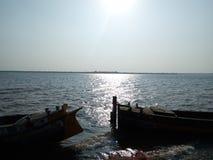 Uma vista do rio Godavay Imagem de Stock Royalty Free