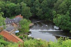 Uma vista do rio, Knaresborough, North Yorkshire Imagens de Stock Royalty Free