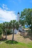 Uma vista do St marca o farol em Florida fotos de stock