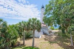 Uma vista do St marca o farol em Florida fotografia de stock