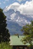 Uma vista do vulcano de Lanin Fotografia de Stock Royalty Free