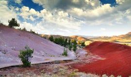 Uma vista dos montes pintados Imagens de Stock