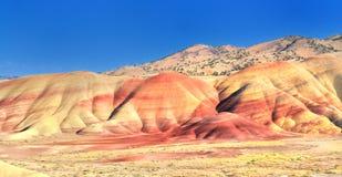 Uma vista dos montes pintados negligencia Imagem de Stock
