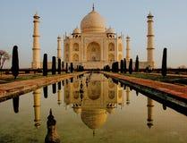 Uma vista em Taj Mahal fotografia de stock royalty free