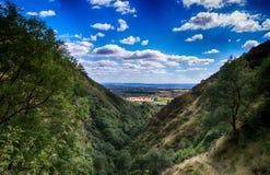 Uma vista em um vale escocês Imagem de Stock