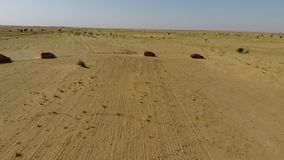 Uma vista larga de um deserto indiano video estoque