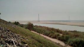 Uma vista lateral do rio Godavari imagem de stock royalty free