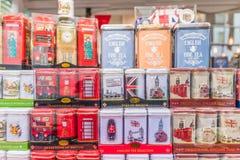 Uma vista no mercado da estrada de Portobello imagens de stock royalty free