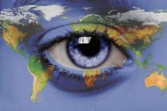 Uma vista no mundo Imagem de Stock