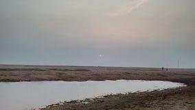 Uma vista no rio Godavari fotografia de stock
