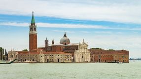 Uma vista panorâmica bonita de uma ilha Venetian foto de stock