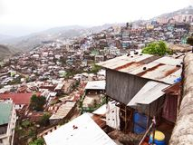 Uma vista panorâmica da cidade do monte de Kohima foto de stock