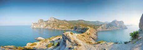 Uma vista panorâmico do cabo Kapchik. Foto de Stock Royalty Free