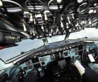 Uma vista particular de uma cabina do piloto Foto de Stock