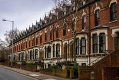 Uma vista pequena de casas inglesas Foto de Stock Royalty Free