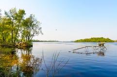 Vista do rio de Dniper na manhã imagem de stock royalty free