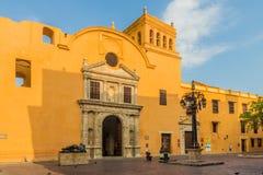 Uma vista típica em Cartagena em Colômbia imagem de stock