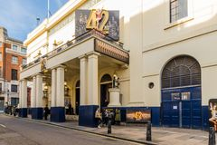 Uma vista típica em Covent Garden fotografia de stock royalty free