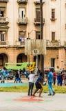 Uma vista típica em Havana em Cuba fotos de stock royalty free