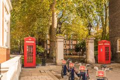 Uma vista típica em Mayfair fotos de stock royalty free