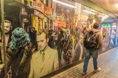 Uma vista típica em Soho Londres Imagem de Stock