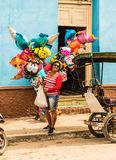 Uma vista típica em Trinidad em Cuba imagens de stock royalty free