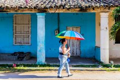 Uma vista típica em Vinales Cuba imagens de stock