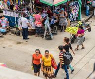 Uma vista típica no San Salvador, El Salvador foto de stock royalty free