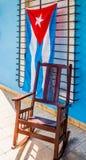 Uma vista típica no vale de Vinales em Cuba foto de stock