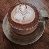 Uma xícara de café Foto de Stock Royalty Free